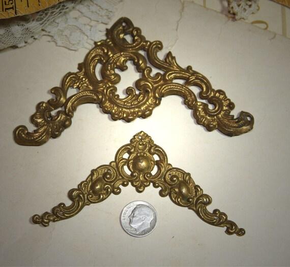 Victorian Ornate Metal Photo Album Hardware