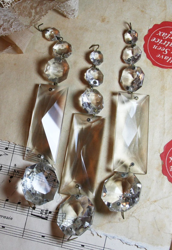 Shabby Chic Chandelier CRYSTALS