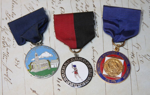 Vintage Salvaged Band Medals