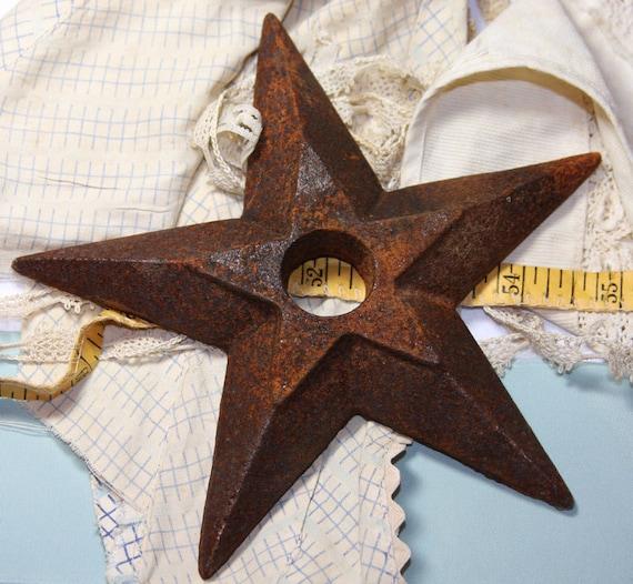 Large Rusty Metal STAR