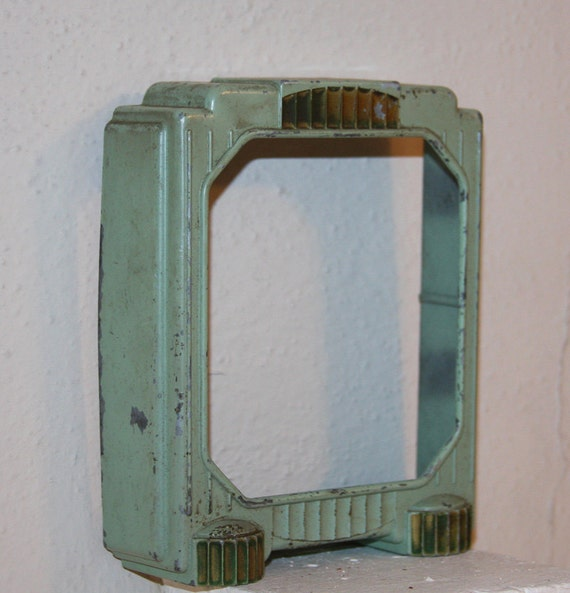 Mint Green CLOCK CASING Surround for Assemblage or Altered Art