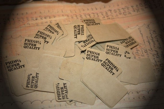 Vintage Cardboard Dividers with Graphic Writing (12)