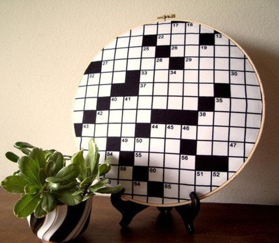 Crossword puzzle embroidery decoration for Decoration crossword clue