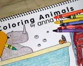 Coloring Animals 24 page coloring book