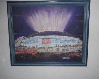 16x20 CANVAS New Dallas Cowboys Stadium FRAMED art Giclee print