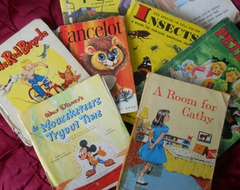 1950s A DOLLAR FiFty Each  Mixed Lot  of 8 BOOKS  Children adult
