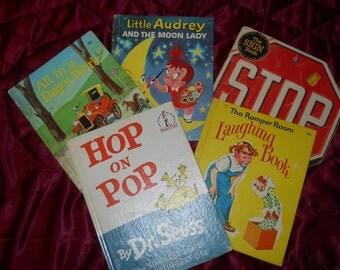 1960s Lot of 5 BOOKS Dr SEUSS Children AUDREY