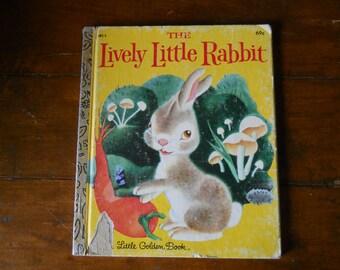 1979 LIVELY Little RABBIT Vintage Little Golden Children's BOOK