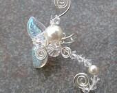 Fairy Crystal Wedding Ear Cuff Ear Climber, Fantasy Bohemian Wedding Jewelry, Non Pierced, No Piercing, Ear Vine, Winter Wedding