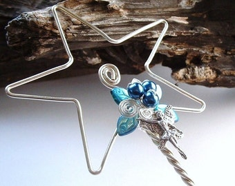 Blue Fairy Magic Wand Flower Girl or Bridesmaid