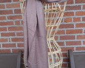scarf silk twill long large coffee color