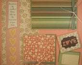 Premade Scrapbook Pages - 12x12 Layout - Sometimes the smallest....