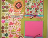 Premade Scrapbook Pages - 12x12 Layout - Easy Breezy