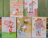 Five Large Greetings Cards