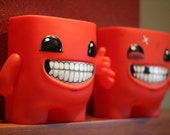 Signed Super Meat Boy Collectible Vinyl Figure