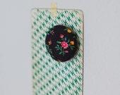 SALE dark floral magnet