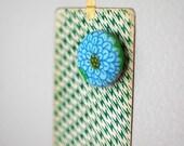 SALE blue flower magnet