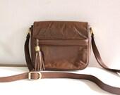 vintage leather TASSEL satchel.