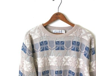 vintage SOUTHWESTERN cotton sweater.