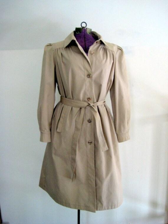 Vintage Lady Detective Trench Coat
