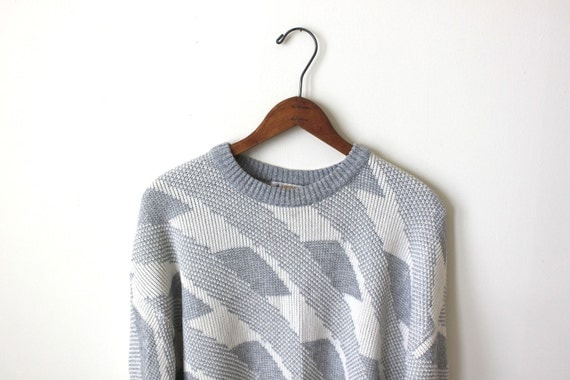 vintage LONDON FOG geometric sweater. M