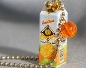 Orange Juice Pendant Choker