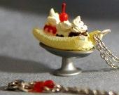 Banana Split Pendant Necklace