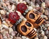 Day of the Dead Earrings-Skulls Adorned