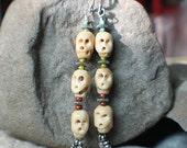 Bone Skull Totem Day of the Dead Earrings