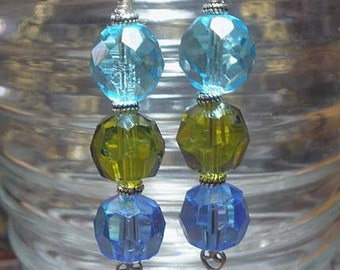 Trio-Vintage Crystal Earrings