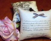 Jane Austen-'Marianne's Sonnet'-Sense and Sensibility Quotation Miniature Hanging Pillow