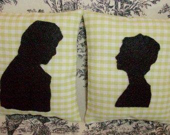 Jane Austen-Pride and Prejudice-Elizabeth and Darcy Silhouette Sachet Gift Set