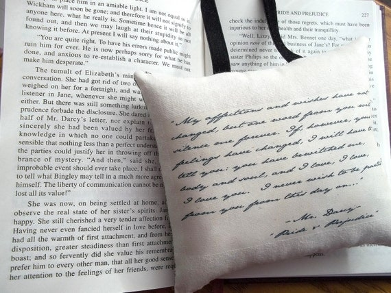 Jane Austen-Pride and Prejudice-Mr Darcy's Declaration-Quotation Miniature Hanging Pillow-Simpler Style