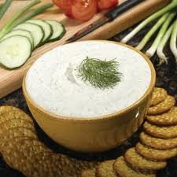 Herbal Dip Blend-Card- Recipes for Hidden Valley Ranch Dressing, Boursin Cheese, Dips and Spreads-Salt Free