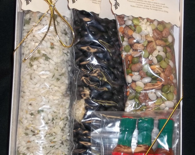 Wholesome Soup Mix Gift Set, Soup Mix, Soup Seasonings, Gift Set, Herbs and Spices, Seasonings, Dried Beans, Salt Free