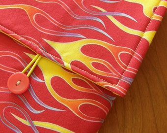 MacBook / MB Pro / MB Air Laptop Sleeve in Fiery Red Fabric