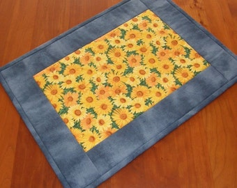 Sunflower Premium Placemats - Set of Two