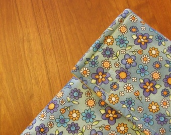 iPad Sleeve/Case with Extra Pocket in Blue Floral Fabric