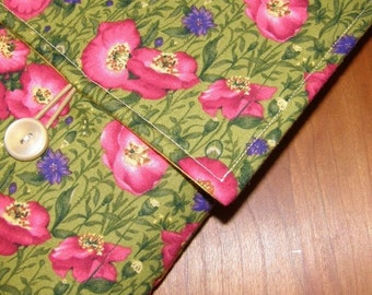 MacBook / MB Pro / MB Air Laptop Sleeve in Pink Poppy Fabric