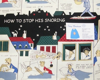 Michael Miller's How to Stop His Snoring Fabric - 1 yard plus piece