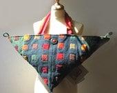 Handwoven, Triangular Fiber Art Bag, Multifunctions, Prototype, Wool OOAK, etsyitaliateam