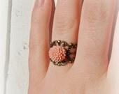 Blushing Dahlia Ring