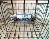 LARGE Vintage  wire gym basket or swimming pool locker number 463... great Flea Market Style Organizing