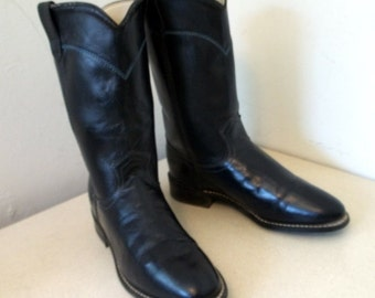 Vintage Dark Blue Acme brand  Cowgirl boots size 6.5 M