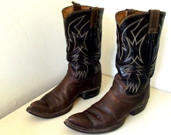 Vintage Justin brand Cowboy Boots size 10 B or Cowgirl size 11 to 11.5