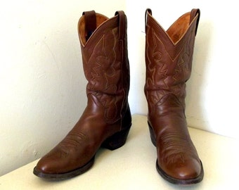 Gorgeous Vintage The Sanders brand Cowboy boots - brown leather - 11.5 B