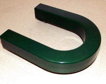 Vintage Plastic 3 D green letter U