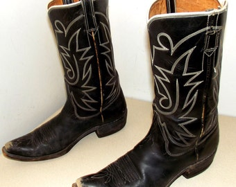 Rockabilly Western style Vintage Cowboy boots size 10 or cowgirl size 11.5