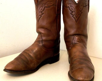 Nicely Broken In Lucchese brand cowboy boots size 9 D or cowgirl size 10.5