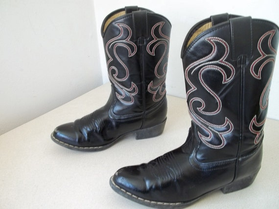Vintage faded Glory Youth size Cowboy boots size 4 or Ladies size 5.5